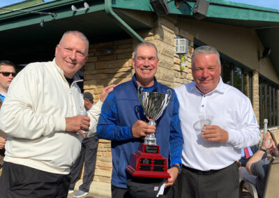 the winning foursome who took home the WCBA Golf Outing Trophy: Jay O'Brien, Ed Glazar, Jimmo Grupp and Greg Mysker